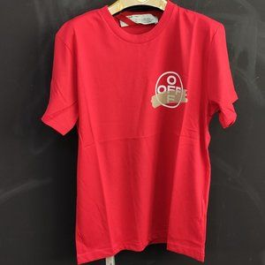Off-White Red Color New Season T-Shirt